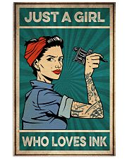 Tattoo Just A Girl Who Loves Ink 16x24 Poster front