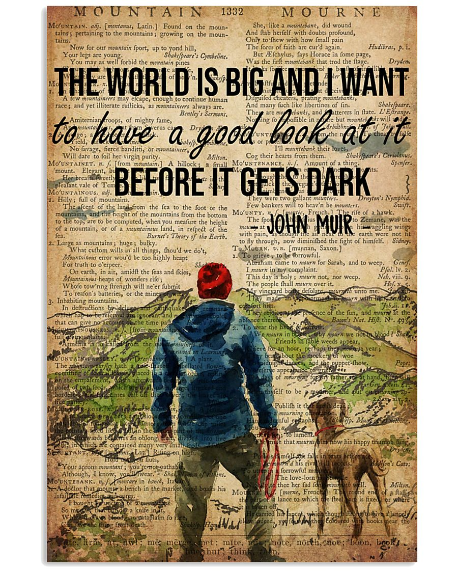 Camping The World Is Big 16x24 Poster