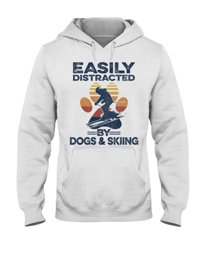 Skiing And Dogs