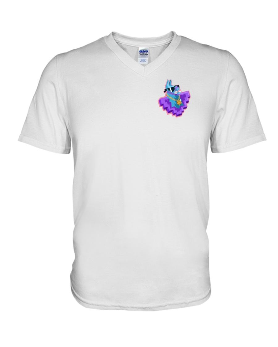 Llama Heart V-Neck T-Shirt