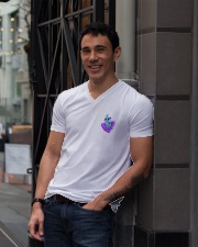 Llama Heart V-Neck T-Shirt lifestyle-mens-vneck-front-1