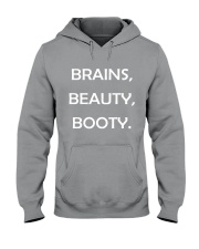 Brains Beauty and Booty Hooded Sweatshirt thumbnail