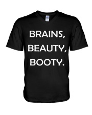 Brains Beauty and Booty V-Neck T-Shirt thumbnail