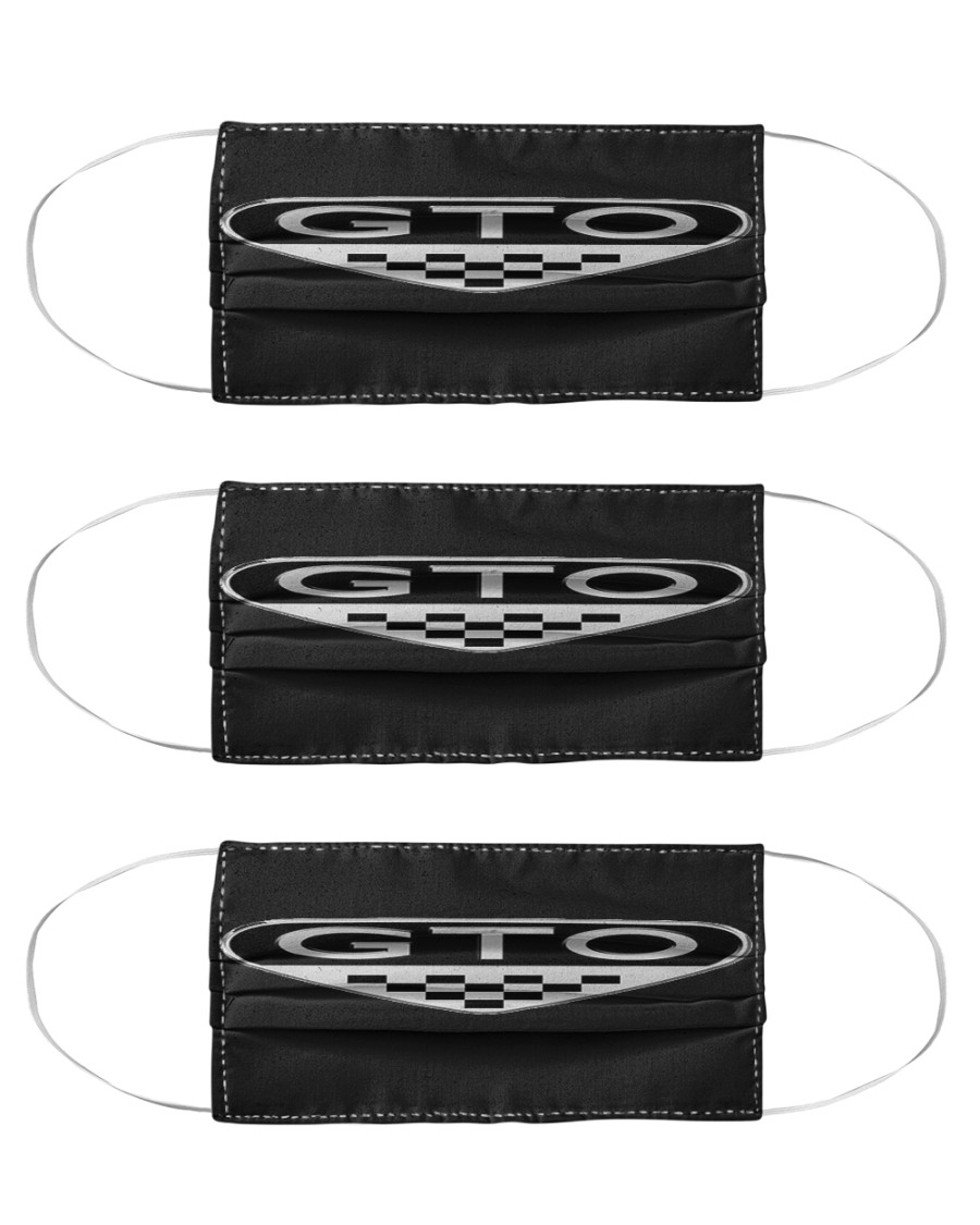 Black GTO Face Masks 3- Pack Cloth Face Mask - 3 Pack