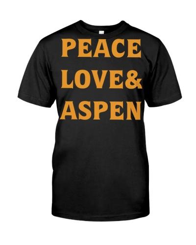 peace loves aspen tshirt