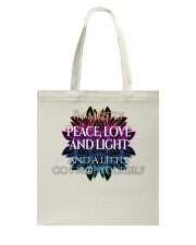 Peace Love and Light Tote Bag thumbnail