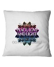 Peace Love and Light Square Pillowcase thumbnail