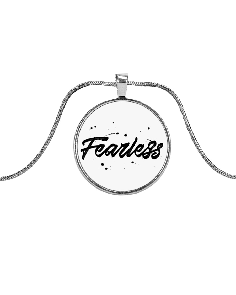 Fearless High Quality Classic Tee Metallic Circle Necklace
