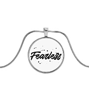 Fearless High Quality Classic Tee Metallic Circle Necklace tile
