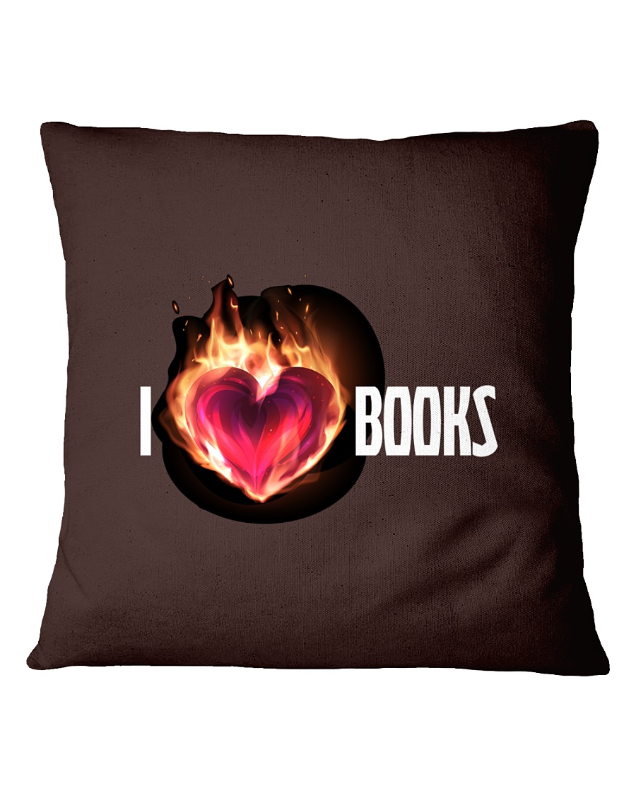 I Love Books High Quality Classic Tee Square Pillowcase