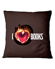 I Love Books High Quality Classic Tee Square Pillowcase front