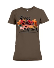 Tacos Tattoos Tequila High Quality Classic Tee Premium Fit Ladies Tee thumbnail