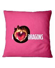 I Love Dragons High Quality Classic Tee Square Pillowcase thumbnail