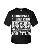 CLOTHING CRIMINAL ATTORNEY TSHIRT Youth T-Shirt thumbnail