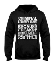 CLOTHING CRIMINAL ATTORNEY TSHIRT Hooded Sweatshirt thumbnail