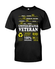CLOTHES UNITED STATES VETERAN Classic T-Shirt front