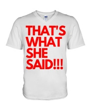 THAT S WHAT SHE SAID V-Neck T-Shirt thumbnail