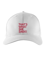 THAT S WHAT SHE SAID Embroidered Hat thumbnail