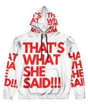 THAT S WHAT SHE SAID Men's All Over Print Hoodie thumbnail