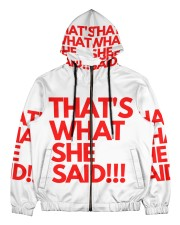 THAT S WHAT SHE SAID Men's All Over Print Full Zip Hoodie thumbnail