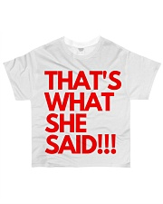 THAT S WHAT SHE SAID All-over T-Shirt thumbnail