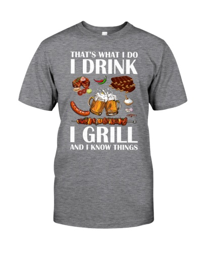 DRINK GRILL AND KNOW THINGS