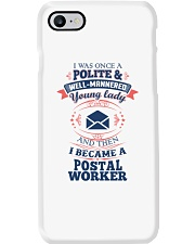 YOUNG LADY POSTAL WORKER Phone Case thumbnail