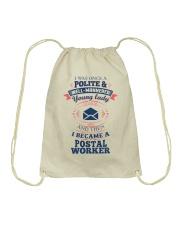 YOUNG LADY POSTAL WORKER Drawstring Bag thumbnail