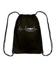 BASEBALL HEARTBEAT Drawstring Bag thumbnail