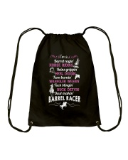 DUST MAKING BARREL RACER Drawstring Bag thumbnail