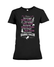 DUST MAKING BARREL RACER Premium Fit Ladies Tee thumbnail