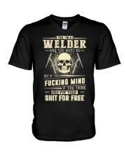 YES I'M A WELDER V-Neck T-Shirt thumbnail