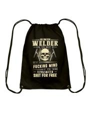 YES I'M A WELDER Drawstring Bag thumbnail