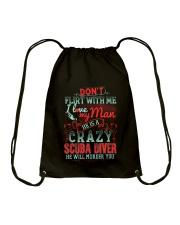 CRAZY SCUBA DIVER Drawstring Bag thumbnail