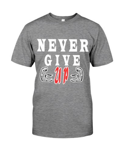 Never Give Up -- MoSalah's T-shirt quote --