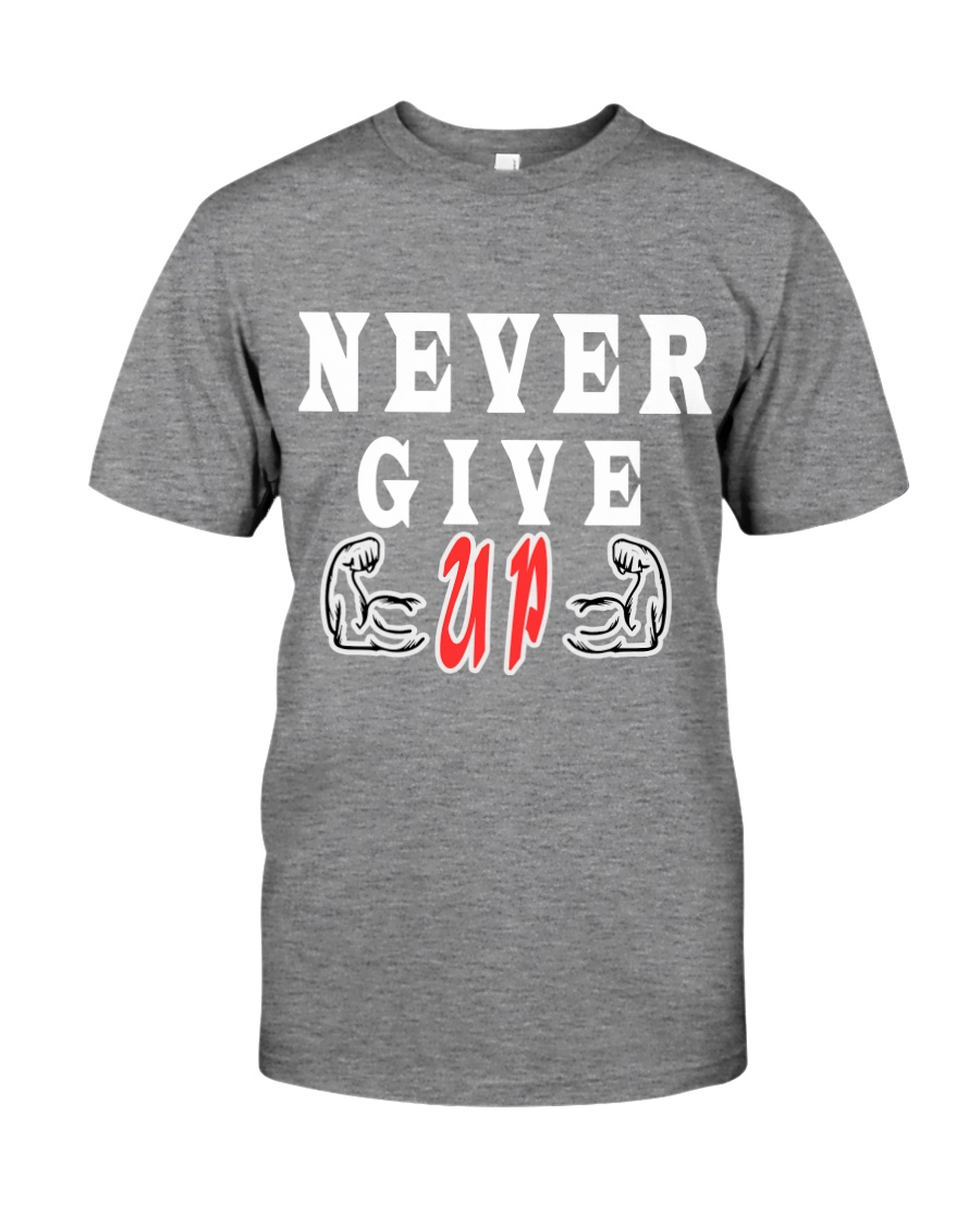 Never Give Up -- MoSalah's T-shirt quote -- Premium Fit Mens Tee