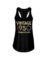 70th Birthday Gift T-Shirt - Retro Birthday Ladies Flowy Tank tile