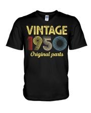 70th Birthday Gift T-Shirt - Retro Birthday V-Neck T-Shirt tile