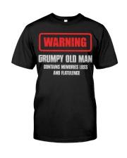 WARNING GRUMPY OLD MAN Classic T-Shirt front