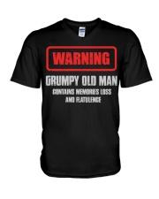 WARNING GRUMPY OLD MAN V-Neck T-Shirt tile