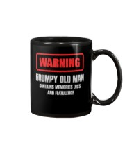 WARNING GRUMPY OLD MAN Mug tile
