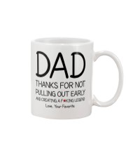 Thanks Dad for not pulling out early Mug front