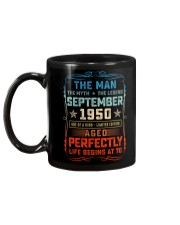 70th Birthday September 1950 Man Myth Legends Mug back