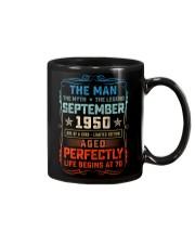 70th Birthday September 1950 Man Myth Legends Mug front