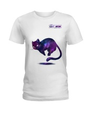 BEST CAT MOM IN THE GALAXY Ladies T-Shirt tile