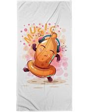 Condom dance music Premium Beach Towel tile