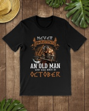 Never Underestimate October Old Man Classic T-Shirt lifestyle-mens-crewneck-front-18