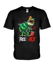 Tree Rex V-Neck T-Shirt tile