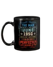 70th Birthday June 1950 Man Myth Legends Mug back