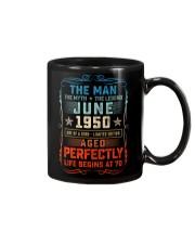 70th Birthday June 1950 Man Myth Legends Mug front